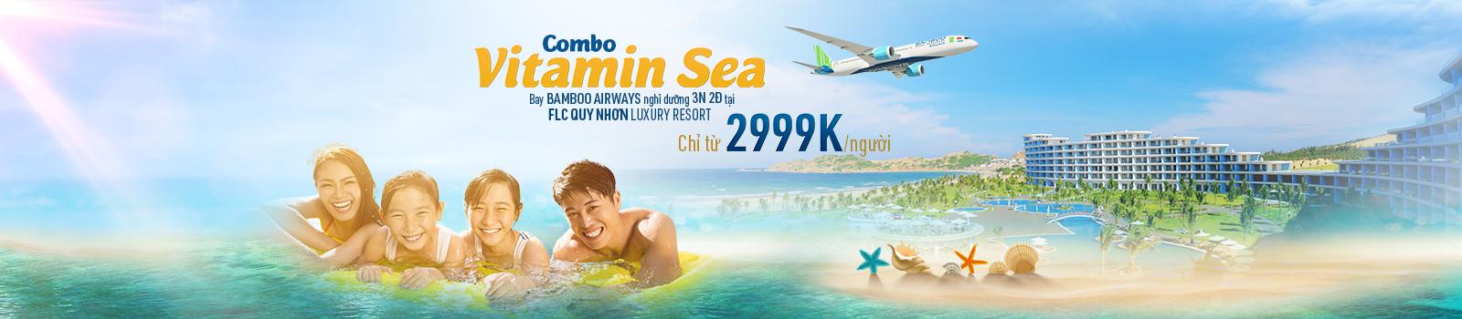 VITAMIN SEA gia đình - Cuối tuần hạnh phúc - Bay Bamboo nghỉ FLC Quy Nhơn
