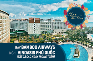 Combo 3N2Đ  TP Hồ Chí Minh – Phú Quốc, nghỉ VinOasis Phú Quốc Resort